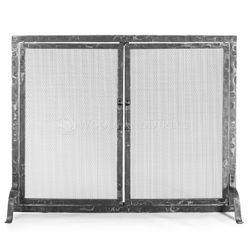Hammered Fireplace Screen with Doors