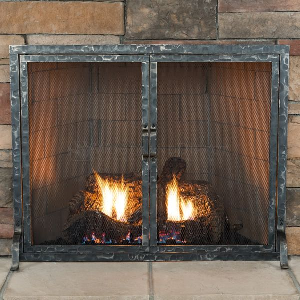 Hammered Fireplace Screen with Doors image number 1