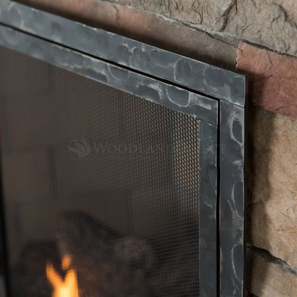 Hammered Fireplace Screen with Doors image number 2
