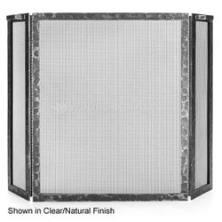 Hammered Three Panel Fireplace Screen