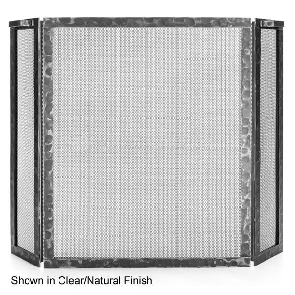 Hammered Three Panel Fireplace Screen image number 0