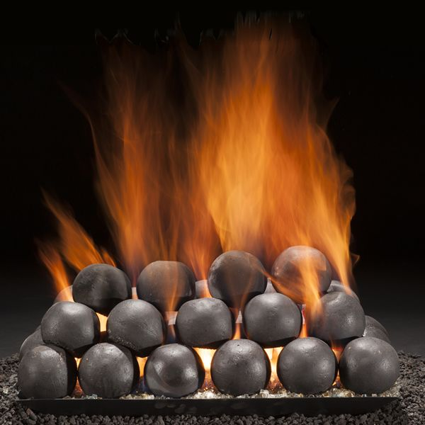 Hargrove Colonial Cannon Balls Gas Vented Fireplace Ball Set image number 0