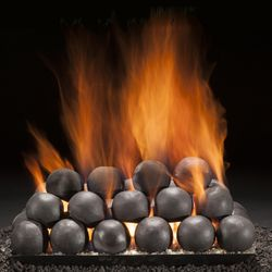 Hargrove Colonial Cannon Balls Gas Vented Fireplace Ball Set