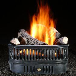 """Hargrove Olde World Basket Vented Gas Log Set - 19"""""""