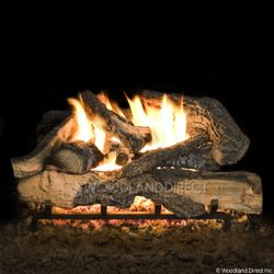 Hargrove Rustic Timbers See Through Vented Gas Log Set