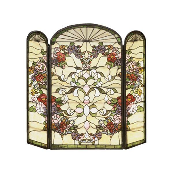 Meyda Tiffany Hearts Fireplace Screen image number 0