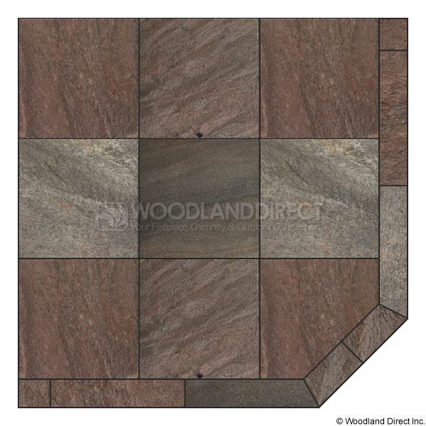 Heritage Corner Hearth Pad - Bronze Polished Slate image number 0