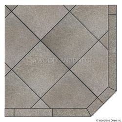 Heritage Corner Hearth Pad - Kassel Rock