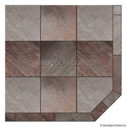 Heritage Corner Hearth Pad - Natural Bronze Slate