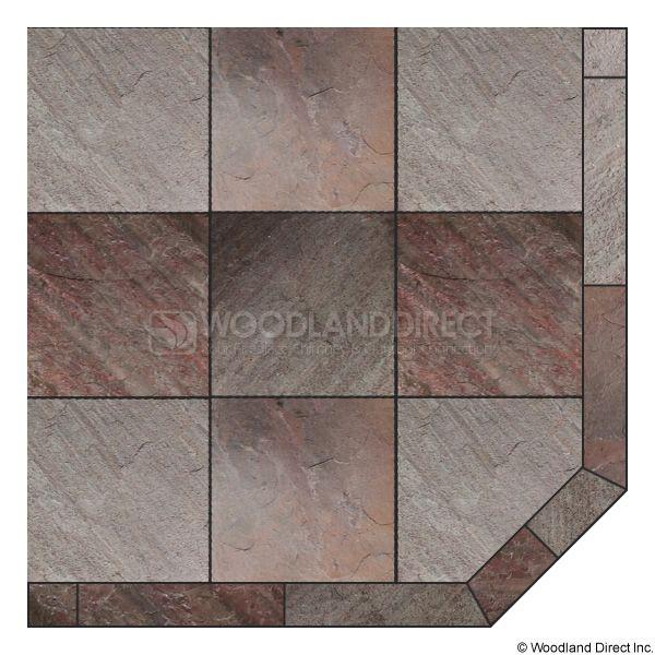 Heritage Corner Hearth Pad - Natural Bronze Slate image number 0