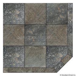 Heritage Corner Hearth Pad - Natural Silver Slate