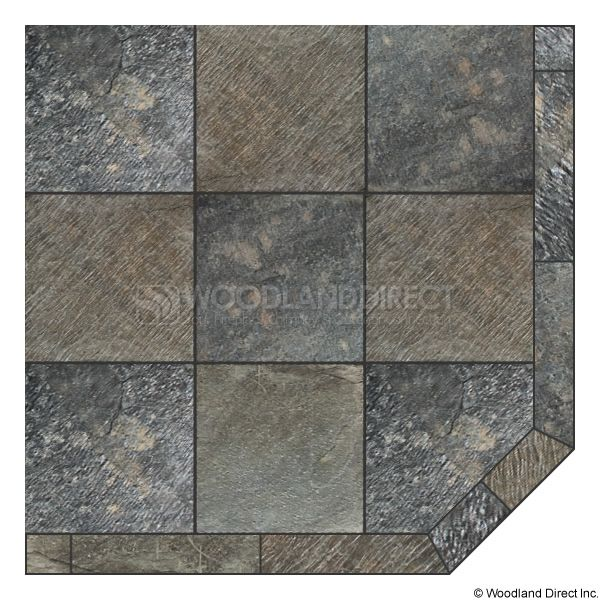 Heritage Corner Hearth Pad - Natural Silver Slate image number 0