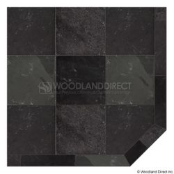 Heritage Corner Hearth Pad - Smoky Grey Slate