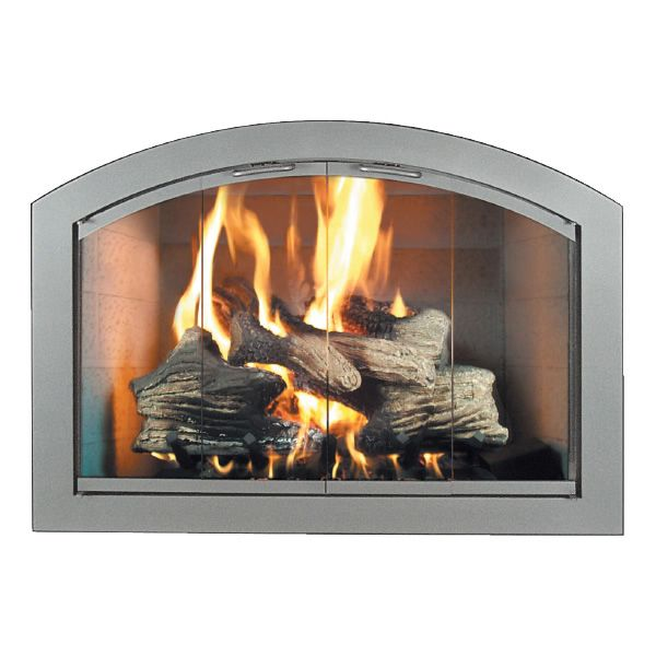 Heritage Full-Arch Masonry Fireplace Door image number 0