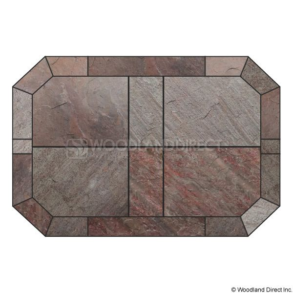 Heritage Octagon Hearth Pad - Natural Bronze Slate image number 0