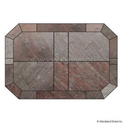 Heritage Octagon Hearth Pad - Natural Bronze Slate