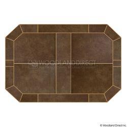 Heritage Octagon Hearth Pad - Bianco Brown
