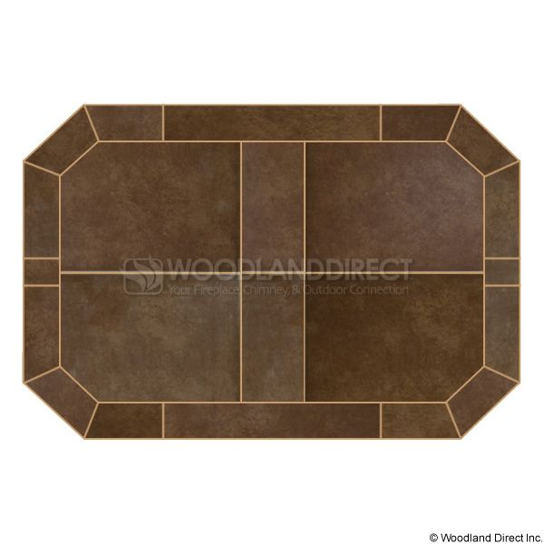 Heritage Octagon Hearth Pad - Bianco Brown image number 0