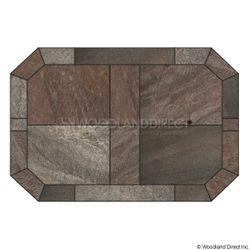 Heritage Octagon Hearth Pad - Bronze Polished Slate