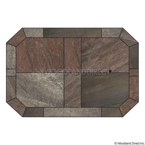 Heritage Octagon Hearth Pad - Bronze Polished Slate image number 0