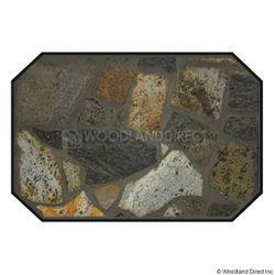Heritage Octagon Hearth Pad - Idaho Mica Stone