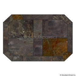 Heritage Octagon Hearth Pad - Peacock Slate