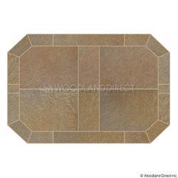 Heritage Octagon Hearth Pad - Sand Stone