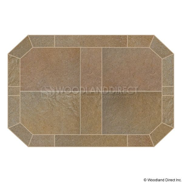 Heritage Octagon Hearth Pad - Sand Stone image number 0