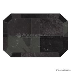 Heritage Octagon Hearth Pad - Smoky Grey Slate