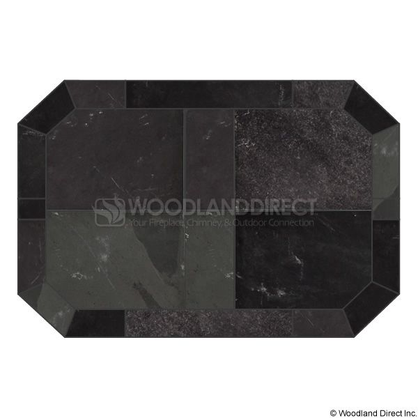 Heritage Octagon Hearth Pad - Smoky Grey Slate image number 0