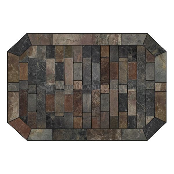 Heritage Octagon Hearth Pad - Western Flagstone image number 0