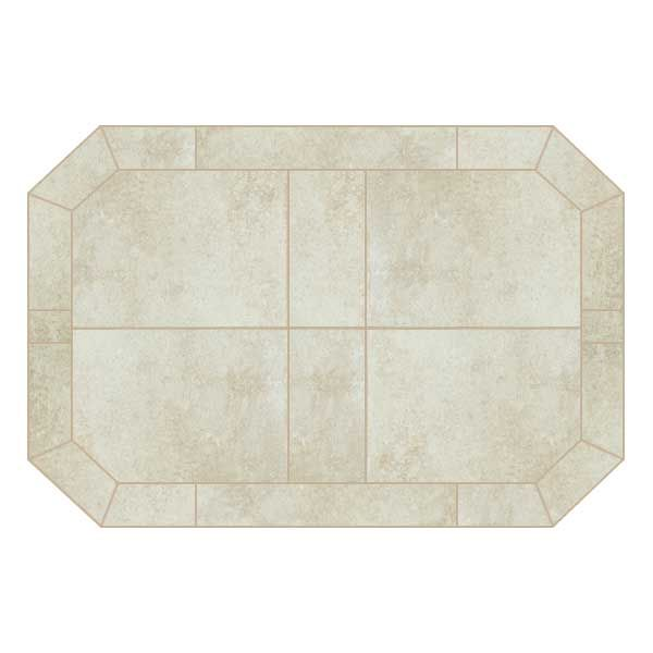Heritage Octagon Hearth Pad - White Lava image number 0