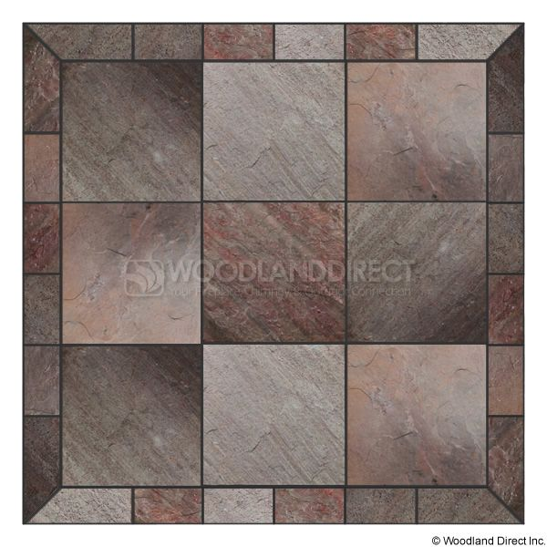 Heritage Square Wall Pad - Natural Bronze Slate image number 0