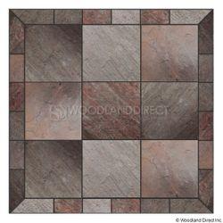 Heritage Square Wall Pad - Natural Bronze Slate