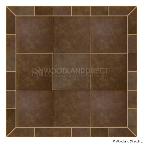 Heritage Square Wall Pad - Bianco Brown image number 0