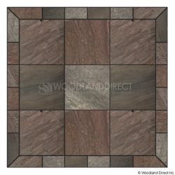 Heritage Square Wall Pad - Bronze Polished Slate