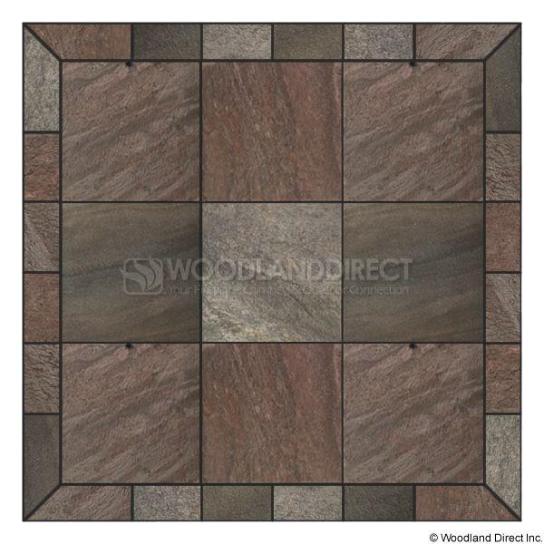Heritage Square Wall Pad - Bronze Polished Slate image number 0