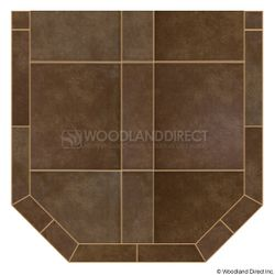 Heritage Standard Hearth Pad - Bianco Brown