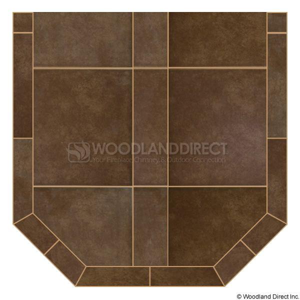 Heritage Standard Hearth Pad - Bianco Brown image number 0