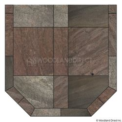 Heritage Standard Hearth Pad - Bronze Polished Slate