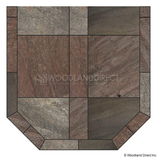 Heritage Standard Hearth Pad - Bronze Polished Slate image number 0