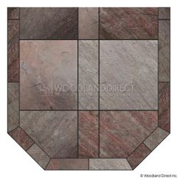 Heritage Standard Hearth Pad - Natural Bronze Slate