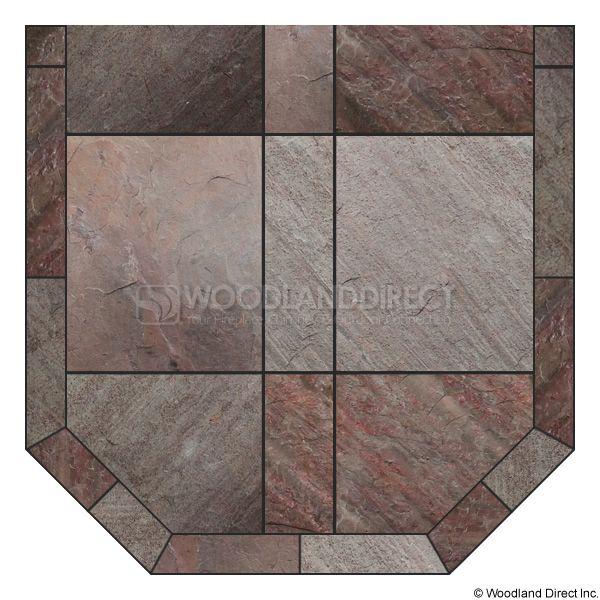 Heritage Standard Hearth Pad - Natural Bronze Slate image number 0
