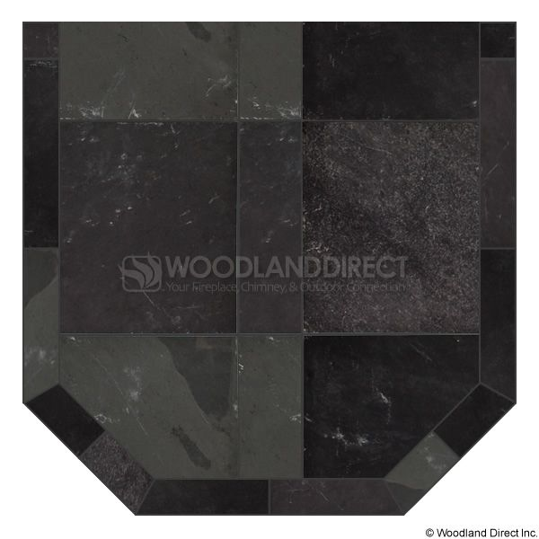 Heritage Standard Hearth Pad - Smoky Grey Slate image number 0
