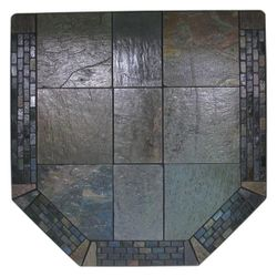 Heritage Standard Venetian Inlay Hearth Pad - Black Patina