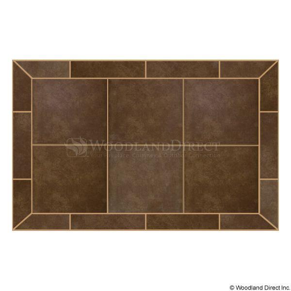 Heritage Rectangular Hearth Pad - Bianco Brown image number 0