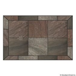 Heritage Rectangular Hearth Pad - Bronze Polished Slate