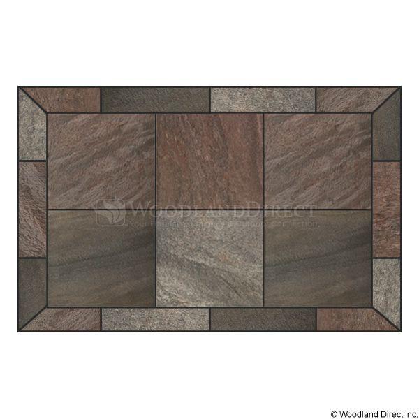 Heritage Rectangular Hearth Pad - Bronze Polished Slate image number 0