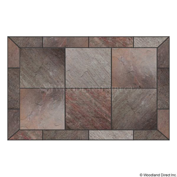Heritage Rectangular Hearth Pad - Natural Bronze Slate image number 0