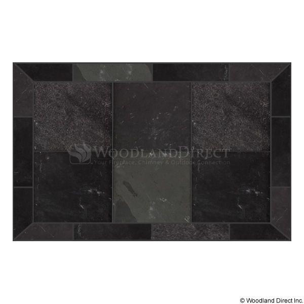 Heritage Rectangular Hearth Pad - Smoky Grey Slate image number 0